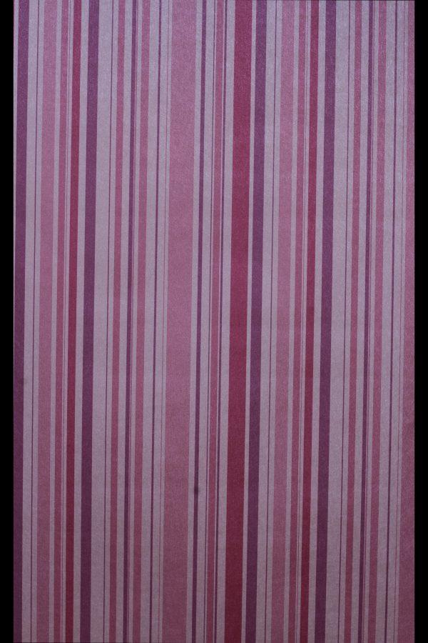 Purple Multicolored Striped Wallpaper