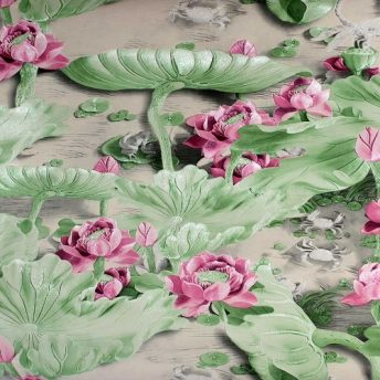 Uarting Pink Floral Wallpaper