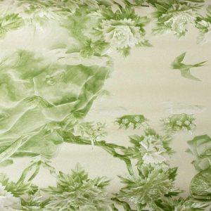 Cascada Soft Green Floral Wallpaper