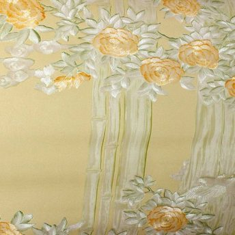 Embossed Peach Damask wallpaper