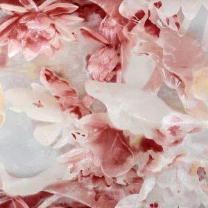 Cascada Fushia Floral Print Wallpaper