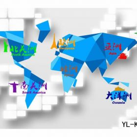 Map of the World Origami Wall Mural