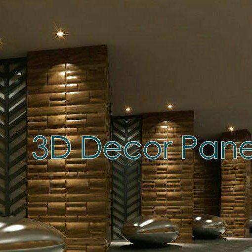 Semi Bladet 3D Wall Panel