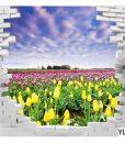 Yellow and Purple Flower Field Wall Art