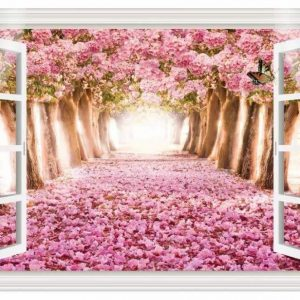 Wonderland Flower Themed Wall Art