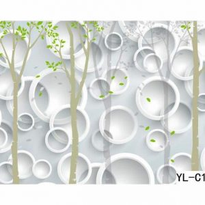 Greenery Themed Bubble Lattice Wall Art