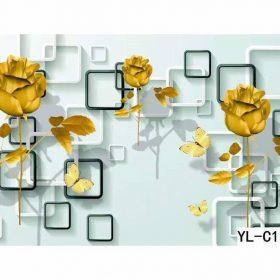 Sun Flower in Olina Cube Wall Art