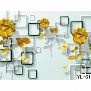 Sun Flower in Olina Cube Wall Art