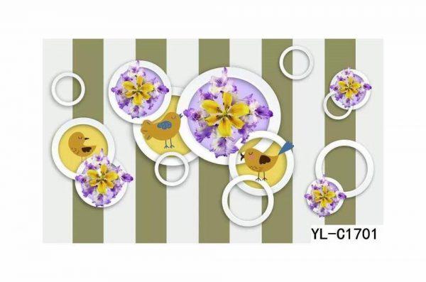 Flower Print Bubble Wall Art