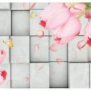 Alluring Flower Block Lattice Wall Art