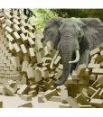 Graceful Elephant in Forest Wall Art