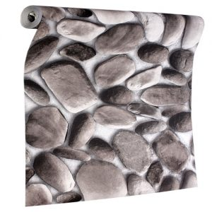 Stone Grey and Brick Therapy Wallpape