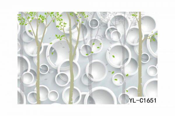 Greenery Themed Bubble Lattice Wall Art