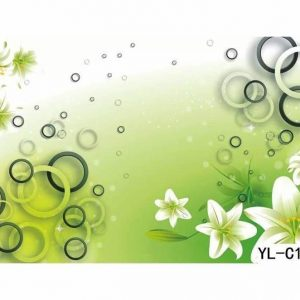 Lily Flower Themed Bubble Wall Art