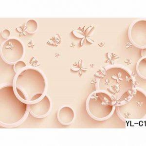 Butterfly Theme Bubble Wall Art